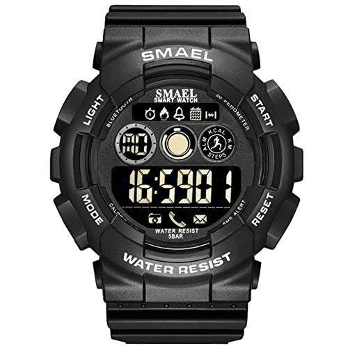 Smart Bluetooth Armband, Smael Bluetooth Stappenteller Stopwatch 50m Waterdichte Wekker Smartwatch, 130 * 90 * 80mm/5.11 * 3.54 * 3.14'', Zwart