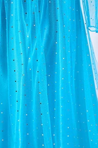 URAQT Disfraz de Princesa Frozen Elsa, Traje del Vestido Traje de ...