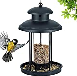 YQG Comedero de pájaros de Metal Comederos de pájaros Colgantes al Aire Libre para comederos de pájaros Salvajes en Forma de Palacio Exterior para Ideas de Regalo de decoración de Patio de jardí