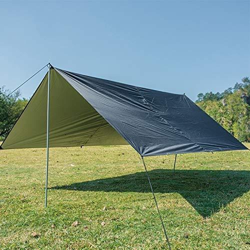 XIAOSONG-Camping- - multifunción Impermeable al Aire Libre Tienda de campaña de protección Solar Beach toldo Refugio Pergola (Verde del ejército) (Color : Black)