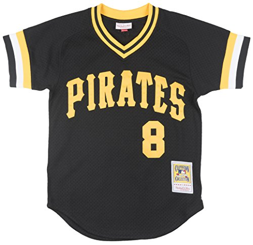 Mitchell & Ness Willie Stargell Pittsburgh Pirates #8 Men's Batting Practice Mesh Jersey (Small)