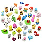 LW Funny Toys 30PCS Animal Erasers Bulk Mini Assorted Puzzle Erasers Collectible for Classroom Rewards Games Prizes Carnivals and School Supplies Best Gifts Party Gifts