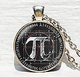 Collier Pi Mathématiques, cadeau pour professeur de mathém