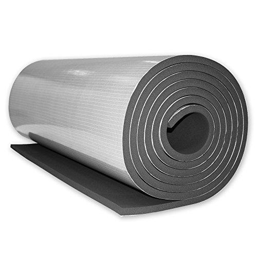 Energiespar Isoliermatte zur Wärmedämmung von Rolladenkästen, selbstklebend, gute Schallschutzeigenschaften, Maße: 6 m x 1 m x 19 mm, von EVEROXX®