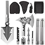 KEPEAK Camping Shovel Axe Set, Folding Survival Multi Tool for Backpacking, Hiking, Entrenching Tool, Car Emergency