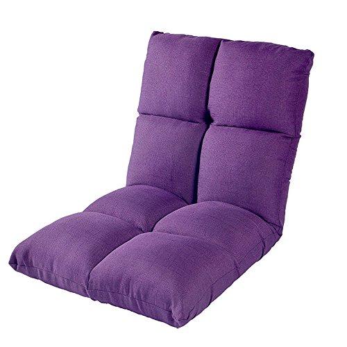 ZHANGRONG- Chaise pliable de plancher avec le sofa de salon paresseux de coussin épais de dossier réglable -Tabouret de canapé (Couleur : Violet)