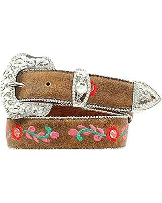M&F Western Girl's Roses Belt (Little Kids/Big Kids) Brown 20