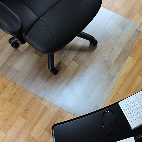 Marvelux Vinyl Bodenschutzmatte für Hartböden | phthalatfrei | 130 x 120 cm | rechteckig | transparent | in verschiedenen Größen erhältlich