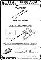 マスターモデル AM-48-098 1/48 グロスター ジャベリンのピトー管