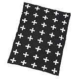 Sharplace Couverture en Coton à Air Comprimé Plaids pour Chambre Bébé Enfant Adulte-Croix * -...