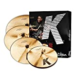 Zildjian K Custom Series Dark Cymbal Box Set - 14 Zoll Hi-Hats, 16 Zoll/18 Zoll Crash, 20 Zoll Ride
