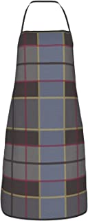 Delantal Outlander, Fraser Clan Tartan Delantales para hombre y mujer, durable ajustable babero delantales para cocina y r...