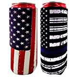 ZSYKD 2pcs Slim Can Cooler Sleeve, Foldable Stubby Holders Beer Cooler Bags Fits 12oz Slim cans Energy Drink & Beer,12oz RedBull,Michelob Ultra,Truly Red Bull,White Claw