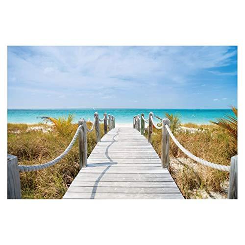 Cuadro de Playa clásico en Lienzo Azul de 120x80 cm - LOLAhome