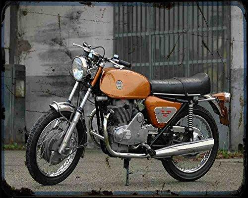 Red Rat Benelli 650 Tornado 71 02 A4 Fotodruck Motorrad Vintage Aged