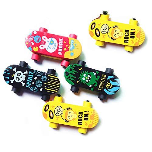 Ogquaton Nette Kawaii Skateboard Radiergummi für Kind Geschenk Neuheit Artikel Schulbedarf Brilliant Schreibwaren 5 Stück umweltfreundlich und praktisch