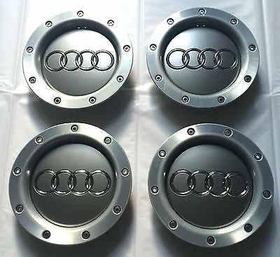 Juego de cuatro llantas de aleaci�n Centro Hub Caps Covers Badge 146�mm 8d0601165�K para Audi A2�A3�A4�A6�A8�S3�S4�S8�RS4�RS6�TT S Line Quattro y otros modelos