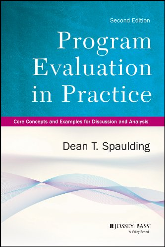 Program Evaluation In Practice Core Concepts And Examples For Discussion And Analysis