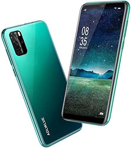 Teléfono Móvil Libres, 6,3 Pulgadas Android 9.0 Smartphone Libre 4G, 32GB ROM+3GB RAM,Moviles Libres Baratos Dual SIM, 8MP+ 5MP, Face ID GPS/WiFi/Hotspot Móviles y Smartphone Baratos Libres-Verde