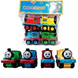 An assortment of push along die-cast train engines and vehicles featuring plastic connectors to connect to other and friends track master train engines or tenders, perfect for use with and friends track master engines, tracks and play set. Die-cast m...