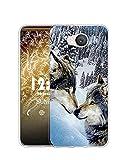 Sunrive Kompatibel mit Elephone P9000 Lite Hülle Silikon, Transparent Handyhülle Schutzhülle Etui Hülle (Q Wolf 7)+Gratis Universal Eingabestift MEHRWEG