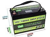 12V 100Ah LiFePO4 Wohnmobil Akku, Wohnwagen, Solarstromspeicher, Solar Akku
