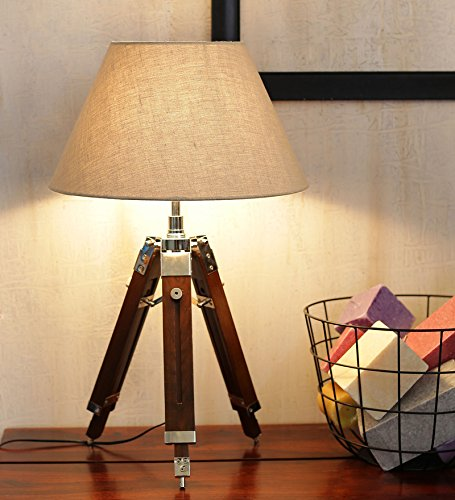 Living Room Table Lamp with Shade by NauticalMart