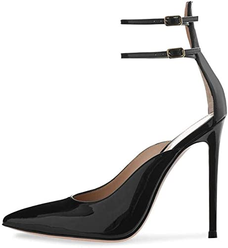 YTTY Escarpins Noirs à Talons Hauts Chaussures Nude, Noir, 46