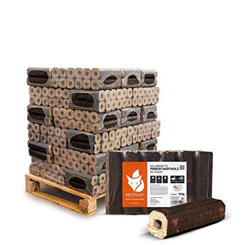 PALIGO Holzbriketts Hartholz Pinikay Octagon Kamin Ofen Brenn Holz Heiz Brikett 10kg x 30 Gebinde 300kg / 1 Palette Heizfuxx