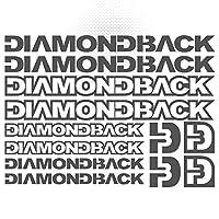 ダイヤモンドバックビニールステッカーシート バイクフレーム サイクリング 自転車 MTB ロードボディ カースタイリング 装飾デカールステッカーセット(グレー)