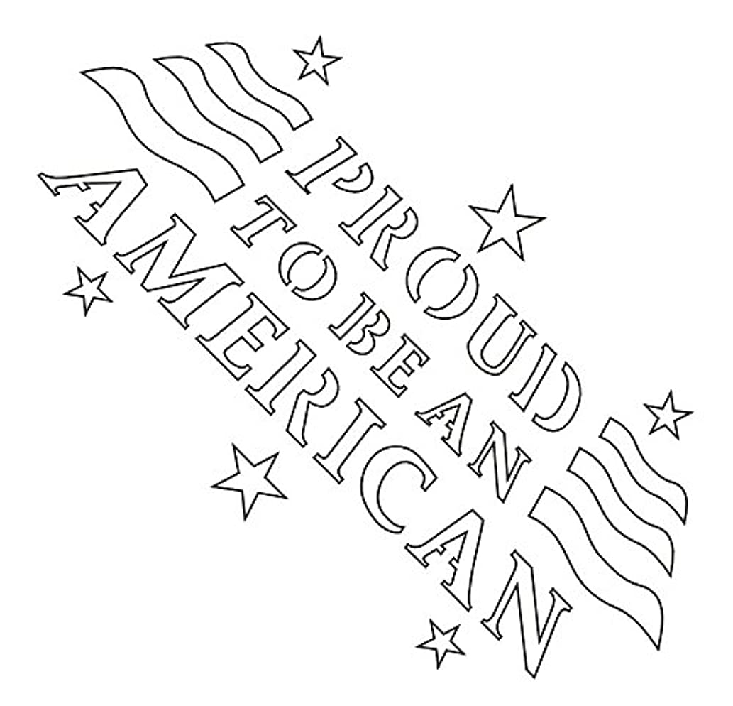 Badger Totally Tattoo Body Art Stencils Proud to Be an American-22-745