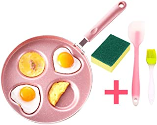 Yumin-HZ Antihaftpfanne Hogar Mini Fondo Plano Cacerola Antiadherente de Grueso Huevo Frito Sartén fácil de Limpiar Desayuno Pot Adecuado for Cocina de Gas de 26 cm Rosa (Size : Medium)