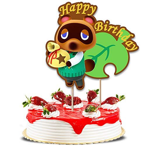 Happy Birthday Animal Tom Nook Cake Toppers Cake Decoration Party Supplies