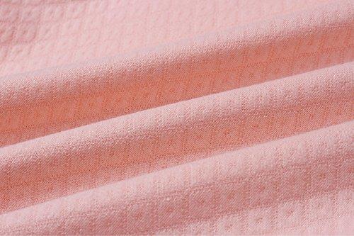 ECOWISH Damen Kontrastfarbe Pulli Pullover Rollkragen Sweatshirt Kapuzenpulli Top Hoodies Rosa L - 6