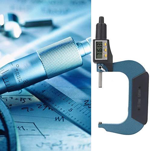 Legierungsdickenmikrometer, Außenmikrometer, breite Anwendung Verchromte Messgeräte für Werkstattwerkzeuge Werkstattbedarf Messwerkzeug(75-100 mm)