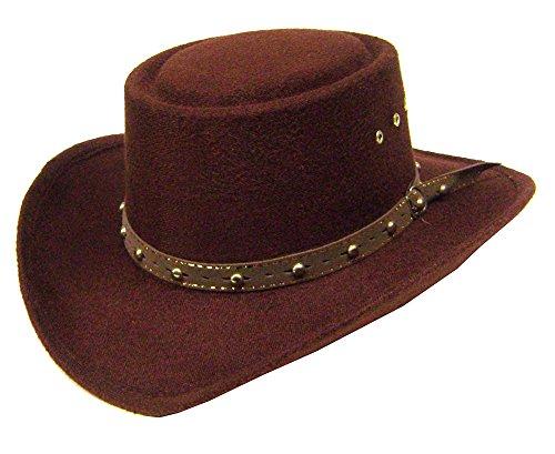 Modestone Kids Gambler Faux Felt Chapeaux Cowboy ''Some Sizes for Small Heads''