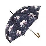 Paraguas Mary Sam's 'Sub Rosa' - rosado hermosa - mujeres, hombres -mango de madera - diseńo de rosas pastel - apertura automatico, antiviento, fuerte