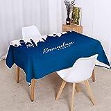 AIJU Gartentischdecke - wetterfeste und rutschfeste Tischdecke für Garten Balkon und...