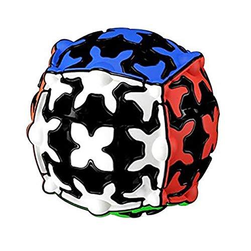 ZXIAQI Cubo Engranajes, 3D Puzzle Gear Cube 3x3x3 Rompecabezas Cubo de Velocidad Juego Psicológico Cubo Mágico Regalo de Adulto para Niños,Sphere Cube