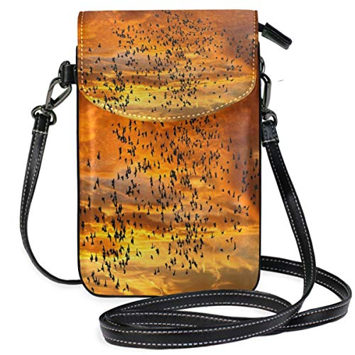 XCNGG Telefontasche Flying Birds Cell Phone Purse Wallet for Women Girl Small Crossbody Purse Bags