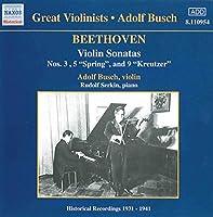 BEETHOVEN BEETHOVEN: Violin Sonatas (Busch) (1931-1941) (2006-08-01)