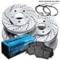 Fit 2007 BMW 328i PowerSport Full Kit Drill/Slot Brake Rotors+Ceramic Brake Pads