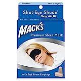 Mack's Shut Eye Shade - Maschera per dormire, con tappi per le orecchie, colore: Nero