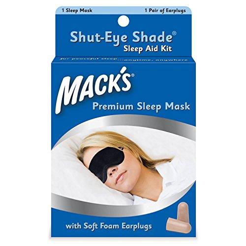 Mack's Shut Masque de sommeil avec bouchons d'oreille Noir