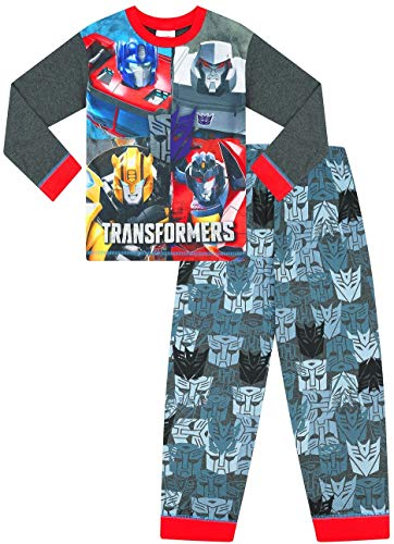 Jungen-Schlafanzug, Transformers Optimus Prime und Bumblebee, W19 Gr. 5-6 Jahre, Schwarz