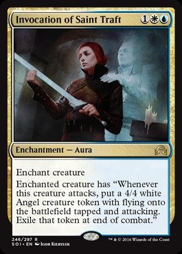 Magic The Gathering - Invocation of Saint Traft (246/297) - Shadows Over Innistrad