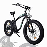 "ECOTRIC Powerful Electric Fat Tire Bicycle Bike 26"" 48V 13AH Li-ion Battery 1000W Motor Aluminum Frame Suspension Fork Beach Snow Ebike Electric Mountain Moped"