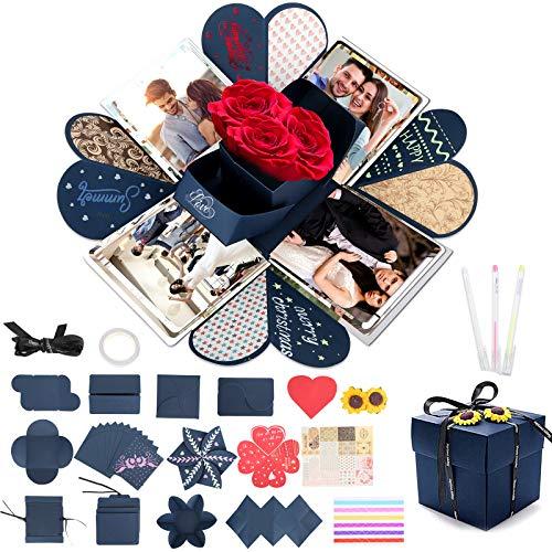 Aitsite - Caja de regalo de explosión para manualidades, caja de regalo para Navidad, cumpleaños, San Valentín, aniversario, boda, día de la madre