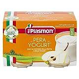 Plasmon Omogeneizzato, Pera e Yogurt, Confezione da 12 x 2 (120 g ciascuno)...