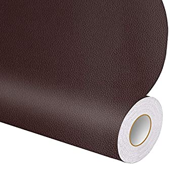 Leather Repair Tape Patch Leather Adhesive for Sofas Car Seats Handbags Jackets 17.3  x 6.5   Brown